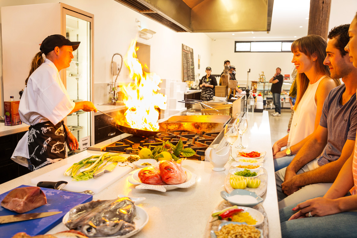Seafood cooking classes at fresh fish place port lincoln for The fish place